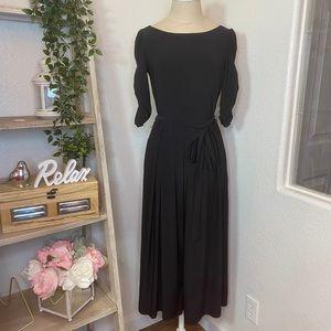 🆕ELLIE black cropped jumpsuit V neck 3/4 sleeves